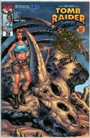Tomb Raider #5 Dynamic Forces Variant  Signed Jurgens & Ordway DF COA Movie